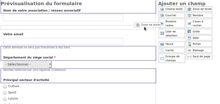 Création rapide de formulaires [FRAMAFORMS ]
